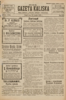 Gazeta Kaliska : pismo codzienne, polityczne, społeczne i ekonomiczne. R.30, № 291 (22 grudnia 1922) = nr 7330