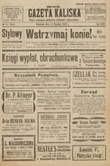 Gazeta Kaliska : pismo codzienne, polityczne, społeczne i ekonomiczne. R.31, № 10 (14 stycznia 1923) = nr 7345