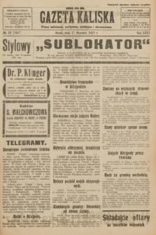 Gazeta Kaliska : pismo codzienne, polityczne, społeczne i ekonomiczne. R.31, № 12 (17 stycznia 1923) = nr 7347
