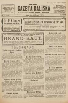 Gazeta Kaliska : pismo codzienne, polityczne, społeczne i ekonomiczne. R.31, № 44 (24 lutego 1923) = nr 7380