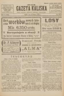 Gazeta Kaliska : pismo codzienne, polityczne, społeczne i ekonomiczne. R.31, № 66 (23 marca 1923) = nr 7402