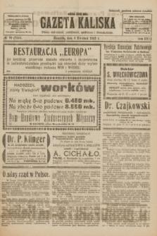 Gazeta Kaliska : pismo codzienne, polityczne, społeczne i ekonomiczne. R.31, № 78 (8 kwietnia 1923) = nr 7414