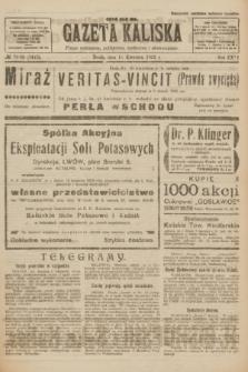 Gazeta Kaliska : pismo codzienne, polityczne, społeczne i ekonomiczne. R.31, № 79/80 (11 kwietnia 1923) = nr 7415