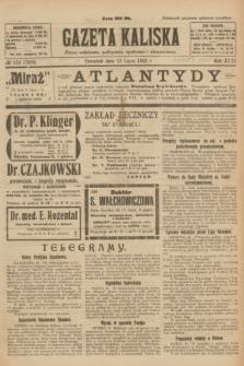 Gazeta Kaliska : pismo codzienne, polityczne, społeczne i ekonomiczne. R.31, № 154 (12 lipca 1923) = nr 7489
