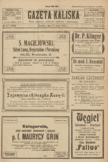 Gazeta Kaliska : pismo codzienne, polityczne, społeczne i ekonomiczne. R.31, № 157 (15 lipca 1923) = nr 7492