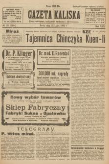 Gazeta Kaliska : pismo codzienne, polityczne, społeczne i ekonomiczne. R.31, № 159 (18 lipca 1923) = nr 7494