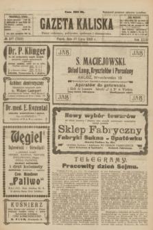 Gazeta Kaliska : pismo codzienne, polityczne, społeczne i ekonomiczne. R.31, № 167 (27 lipca 1923) = nr 7502