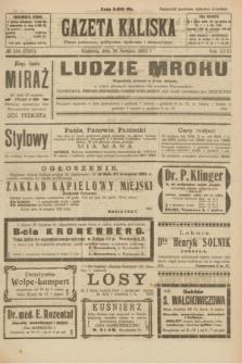 Gazeta Kaliska : pismo codzienne, polityczne, społeczne i ekonomiczne. R.31, № 192 (26 sierpnia 1923) = nr 7527