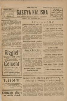 Gazeta Kaliska : pismo codzienne, polityczne, społeczne i ekonomiczne. R.32, № 2 (3 stycznia 1924) = nr 7631