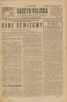Gazeta Kaliska : pismo codzienne, polityczne, społeczne i ekonomiczne. R.32, № 14 (17 stycznia 1924) = nr 7643