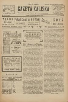Gazeta Kaliska : pismo codzienne, polityczne, społeczne i ekonomiczne. R.33, nr 15 (20 stycznia 1925) = nr 7943