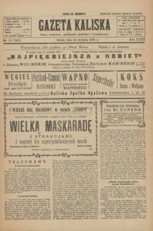 Gazeta Kaliska : pismo codzienne, polityczne, społeczne i ekonomiczne. R.33, nr 19 (24 stycznia 1925) = nr 7947