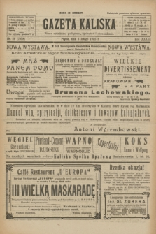 Gazeta Kaliska : pismo codzienne, polityczne, społeczne i ekonomiczne. R.33, nr 29 (6 lutego 1925) = nr 7958