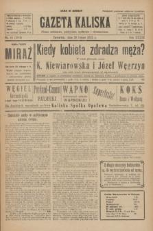 Gazeta Kaliska : pismo codzienne, polityczne, społeczne i ekonomiczne. R.33, nr 46 (26 lutego 1925) = nr 7975