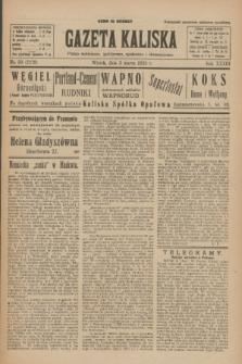 Gazeta Kaliska : pismo codzienne, polityczne, społeczne i ekonomiczne. R.33, nr 50 (3 marca 1925) = nr 7979