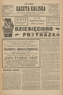 Gazeta Kaliska : pismo codzienne, polityczne, społeczne i ekonomiczne. R.33, nr 52 (5 marca 1925) = nr 7981