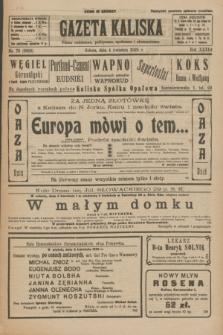 Gazeta Kaliska : pismo codzienne, polityczne, społeczne i ekonomiczne. R.33, nr 78 (4 kwietnia 1925) = nr 8006