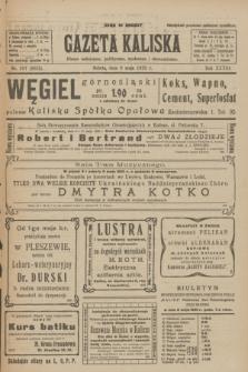 Gazeta Kaliska : pismo codzienne, polityczne, społeczne i ekonomiczne. R.33, nr 107 (9 maja 1925) = nr 8035