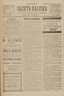 Gazeta Kaliska : pismo codzienne, polityczne, społeczne i ekonomiczne. R.33, nr 122 (28 maja 1925) = nr 8050