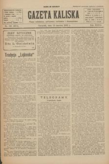 Gazeta Kaliska : pismo codzienne, polityczne, społeczne i ekonomiczne. R.33, nr 138 (18 czerwca 1925) = nr 8066