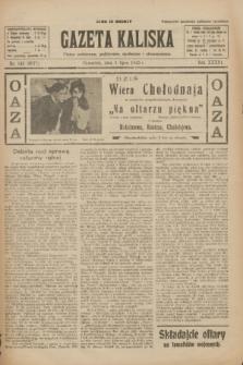 Gazeta Kaliska : pismo codzienne, polityczne, społeczne i ekonomiczne. R.33, nr 149 (2 lipca 1925) = nr 8077