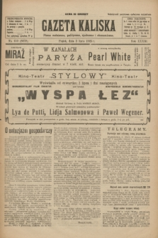 Gazeta Kaliska : pismo codzienne, polityczne, społeczne i ekonomiczne. R.33, nr 150 (3 lipca 1925) = nr 8078