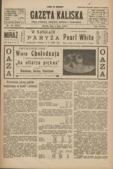 Gazeta Kaliska : pismo codzienne, polityczne, społeczne i ekonomiczne. R.33, nr 151 (4 lipca 1925) = nr 8079