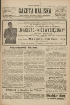 Gazeta Kaliska : pismo codzienne, polityczne, społeczne i ekonomiczne. R.33, nr 155 (9 lipca 1925) = nr 8083