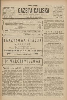 Gazeta Kaliska : pismo codzienne, polityczne, społeczne i ekonomiczne. R.33, nr 174 (31 lipca 1925) = nr 8102