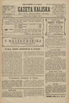 Gazeta Kaliska : pismo codzienne, polityczne, społeczne i ekonomiczne. R.33, nr 182 (9 sierpnia 1925) = nr 8110