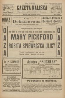 Gazeta Kaliska : pismo codzienne, polityczne, społeczne i ekonomiczne. R.33, nr 183 (11 sierpnia 1925) = nr 8111