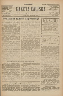 Gazeta Kaliska : pismo codzienne, polityczne, społeczne i ekonomiczne. R.33, nr 189 (18 sierpnia 1925) = nr 8116
