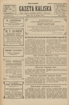 Gazeta Kaliska : pismo codzienne, polityczne, społeczne i ekonomiczne. R.33, nr 192 (21 sierpnia 1925) = nr 8119