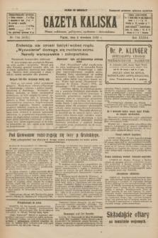 Gazeta Kaliska : pismo codzienne, polityczne, społeczne i ekonomiczne. R.33, nr 204 (4 września 1925) = nr 8131