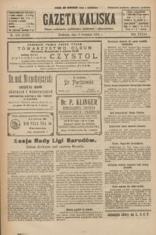 Gazeta Kaliska : pismo codzienne, polityczne, społeczne i ekonomiczne. R.33, nr 206 (6 września 1925) = nr 8133