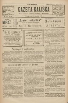 Gazeta Kaliska : pismo codzienne, polityczne, społeczne i ekonomiczne. R.33, nr 207 (9 września 1925) = nr 8134