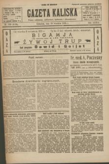 Gazeta Kaliska : pismo codzienne, polityczne, społeczne i ekonomiczne. R.33, nr 209 (10 września 1925) = nr 8136