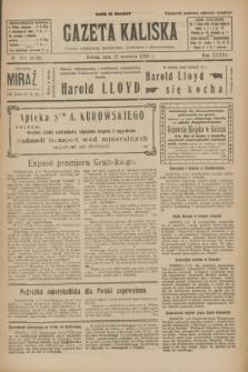 Gazeta Kaliska : pismo codzienne, polityczne, społeczne i ekonomiczne. R.33, nr 211 (12 września 1925) = nr 8138