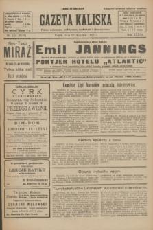 Gazeta Kaliska : pismo codzienne, polityczne, społeczne i ekonomiczne. R.33, nr 222 (25 września 1925) = nr 8149