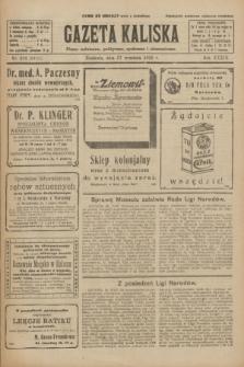 Gazeta Kaliska : pismo codzienne, polityczne, społeczne i ekonomiczne. R.33, nr 224 (27 września 1925) = nr 8151