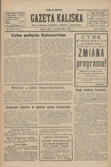 Gazeta Kaliska : pismo codzienne, polityczne, społeczne i ekonomiczne. R.33, nr 228 (2 października 1925) = nr 8155