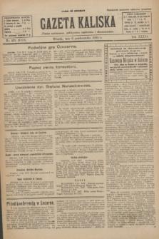Gazeta Kaliska : pismo codzienne, polityczne, społeczne i ekonomiczne. R.33, nr 231 (6 października 1925) = nr 8158