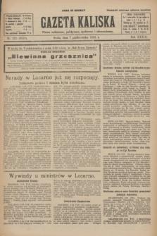 Gazeta Kaliska : pismo codzienne, polityczne, społeczne i ekonomiczne. R.33, nr 232 (7 października 1925) = nr 8159