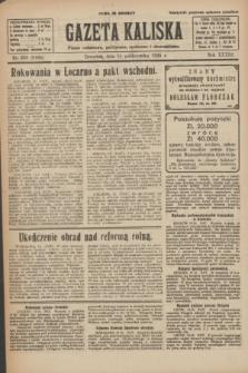Gazeta Kaliska : pismo codzienne, polityczne, społeczne i ekonomiczne. R.33, nr 239 (15 października 1925) = nr 8166