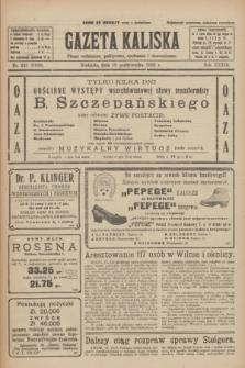 Gazeta Kaliska : pismo codzienne, polityczne, społeczne i ekonomiczne. R.33, nr 242 (18 października 1925) = nr 8169
