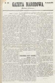 Gazeta Narodowa (wydanie wieczorne). 1870, nr203