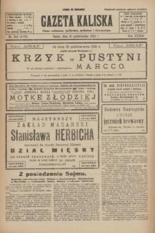 Gazeta Kaliska : pismo codzienne, polityczne, społeczne i ekonomiczne. R.33, nr 252 (30 października 1925) = nr 8179