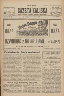 Gazeta Kaliska : pismo codzienne, polityczne, społeczne i ekonomiczne. R.33, nr 257 (5 listopada 1925) = nr 8184