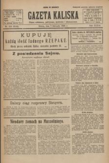 Gazeta Kaliska : pismo codzienne, polityczne, społeczne i ekonomiczne. R.33, nr 259 (7 listopada 1925) = nr 8186