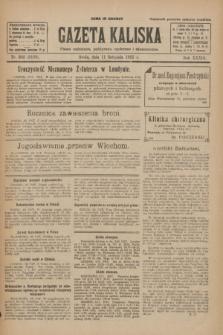 Gazeta Kaliska : pismo codzienne, polityczne, społeczne i ekonomiczne. R.33, nr 262 (11 listopada 1925) = nr 8189